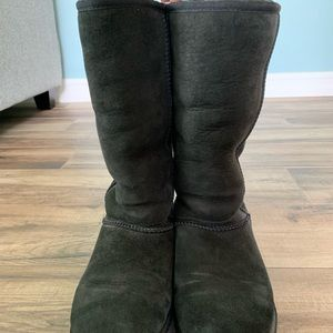 Used Tall Black Ugg Boots Women's